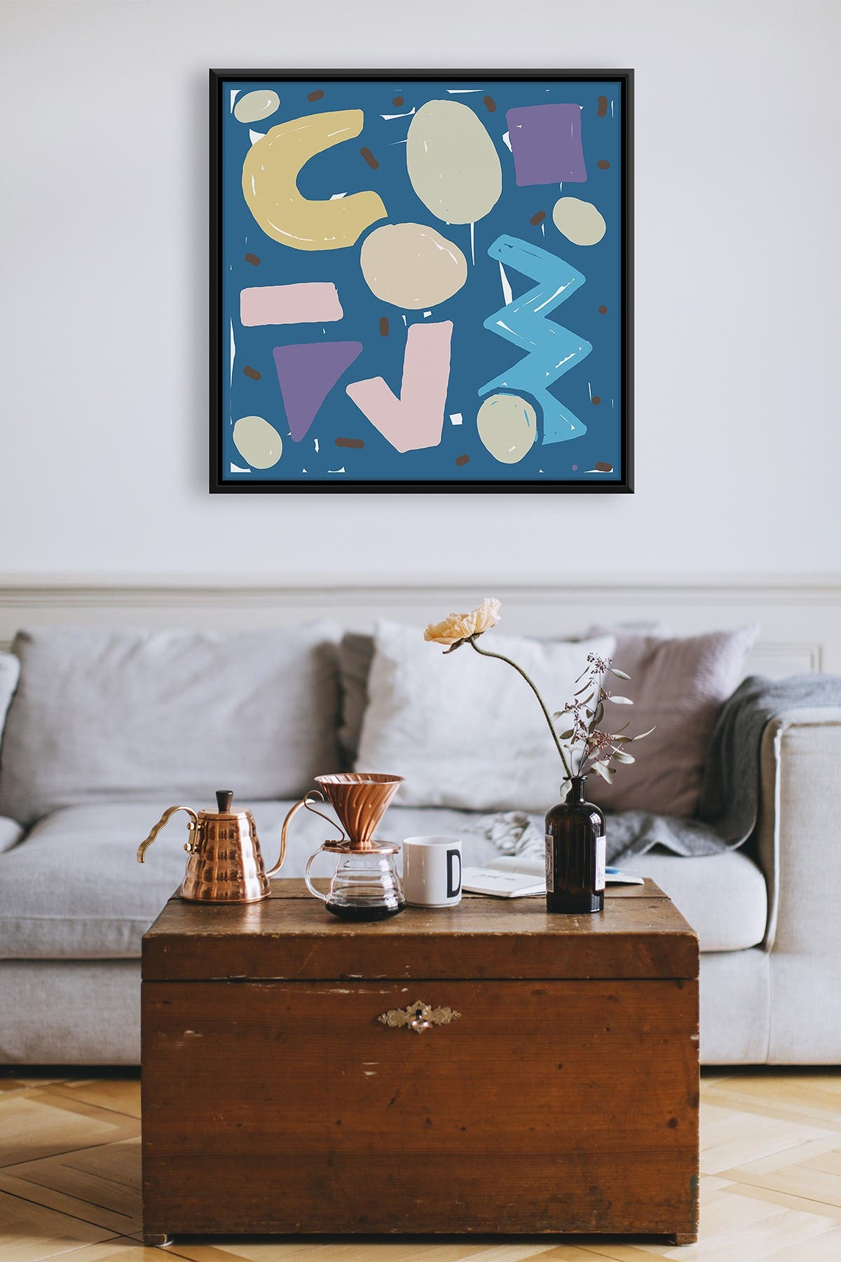 Image of PTM Images Bold Abstract Large XLIV Floater Framed Canvas