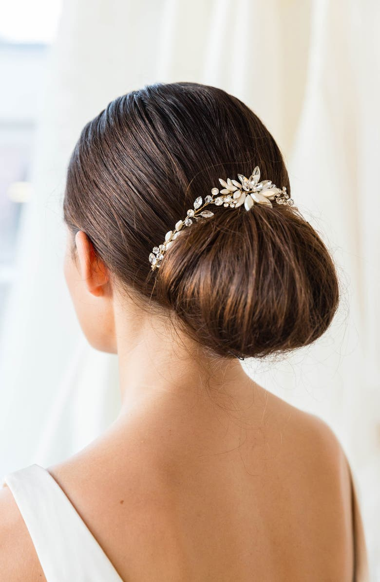 BRIDES & HAIRPINS Rhea Halo with Combs, Main, color, 710