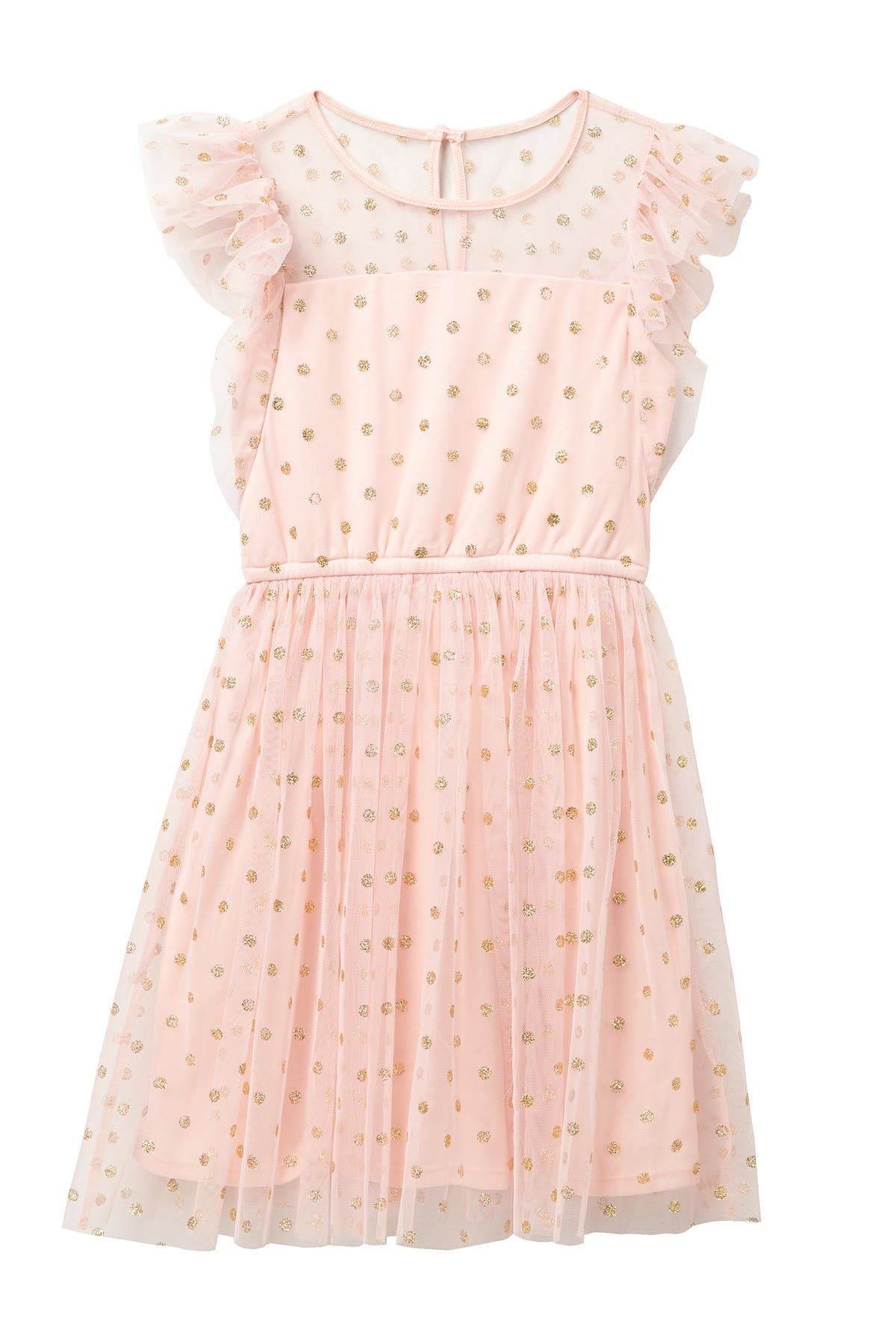 Image of Love, Nickie Lew Glitter Dot Flutter Sleeve Dress