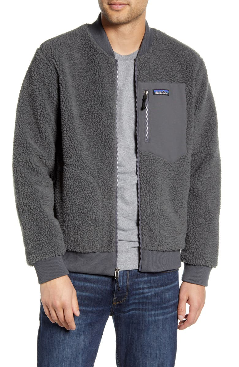 PATAGONIA Retro-X<sup>®</sup> Fleece Bomber Jacket, Main, color, FORGE GREY