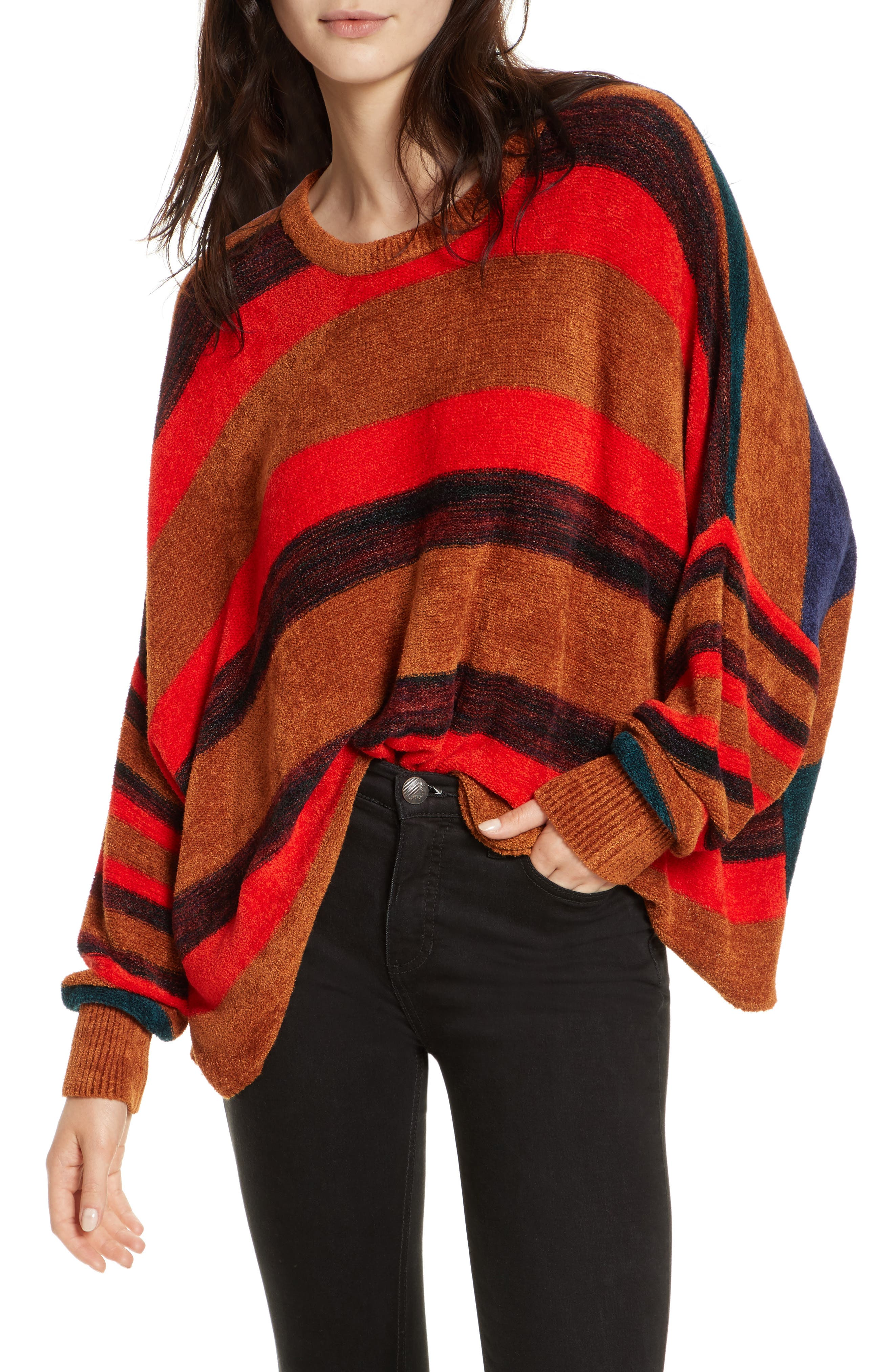 Image of Free People All About You Striped Knit Pullover