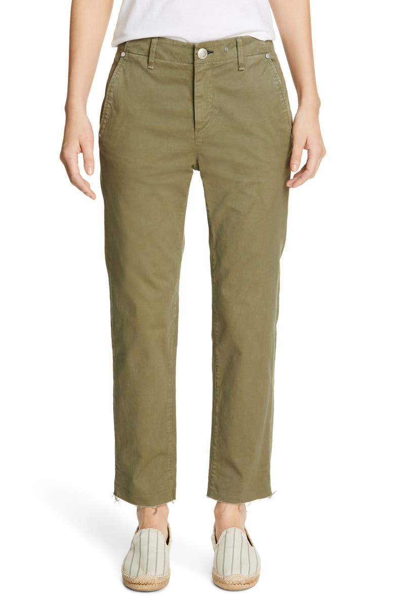 RAG & BONE Buckley Crop Chino Pants, Main, color, OLIVE