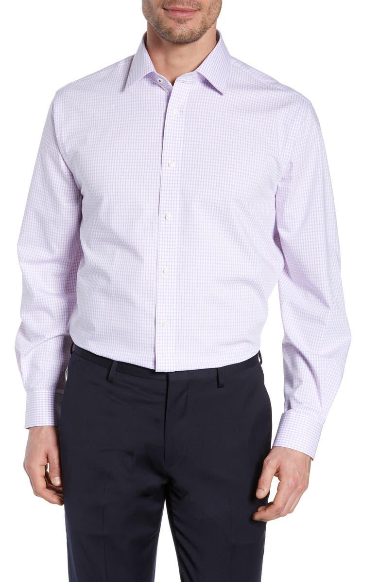 NORDSTROM MEN'S SHOP Tech-Smart Traditional Fit Check Dress Shirt, Main, color, 530