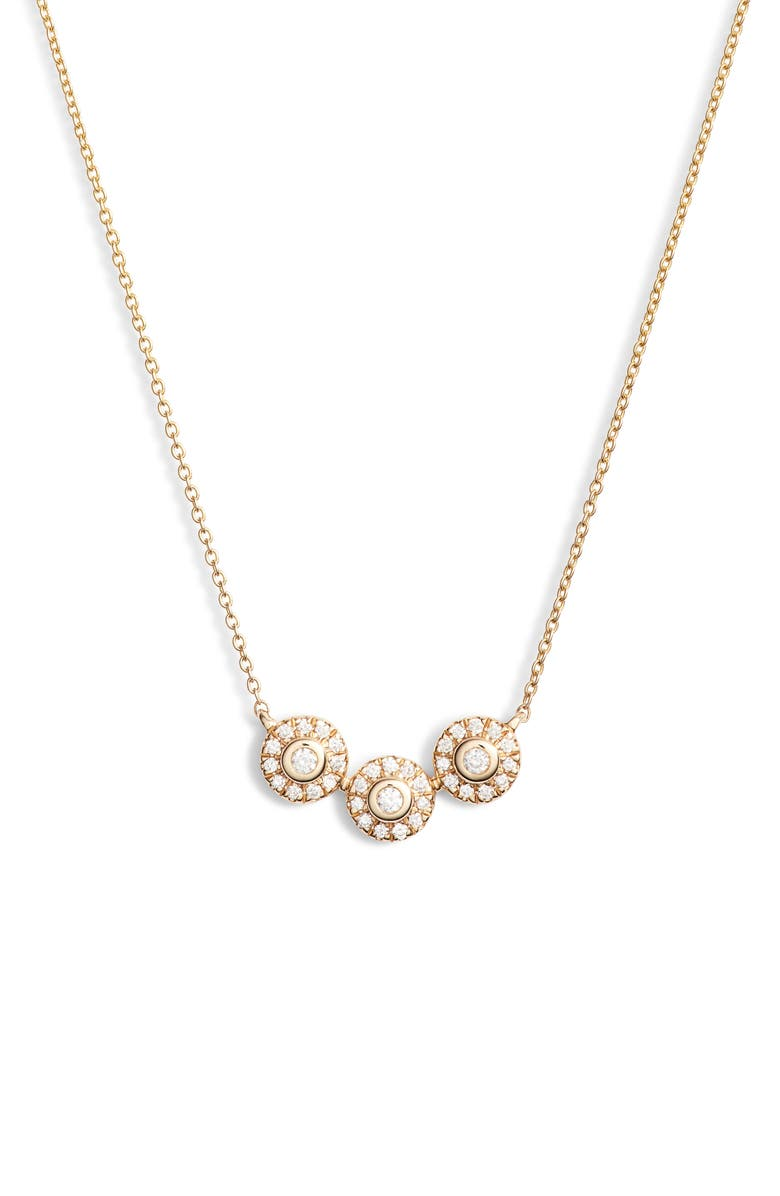 Dana Rebecca Designs Lauren Joy Trio Diamond Disc Necklace