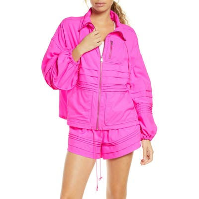 Free People Fp Movement Check It Out Jacket, Pink