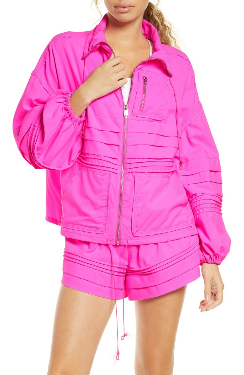 FREE PEOPLE FP MOVEMENT Check It Out Jacket, Main, color, PINK