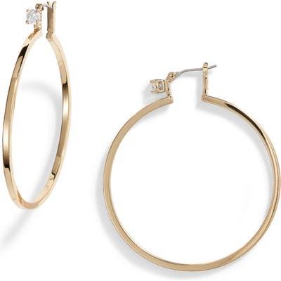 Vince Camuto Crystal Stud Large Hoop Earrings