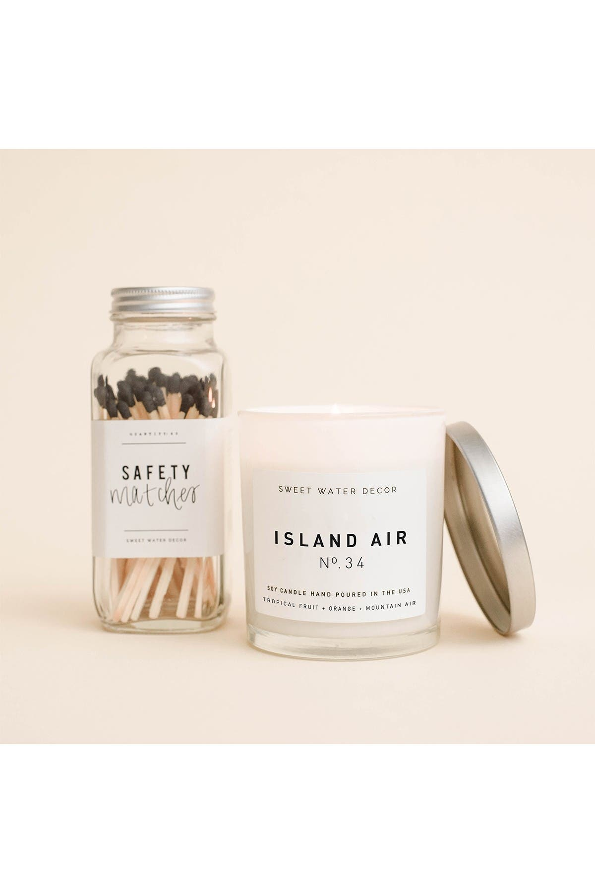 Image of SWEET WATER DECOR Island Air 11 oz. Soy Jar Candle - Set of 2