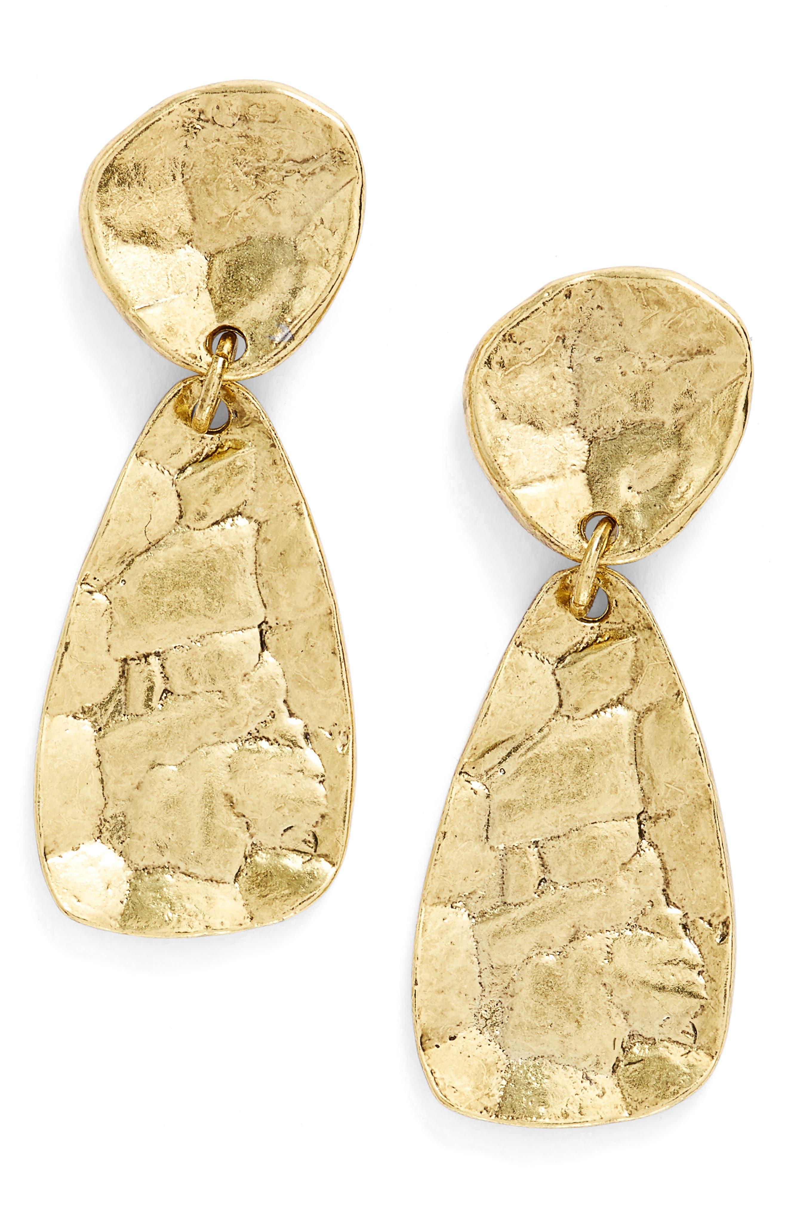 Athena Oval Drop Earrings
