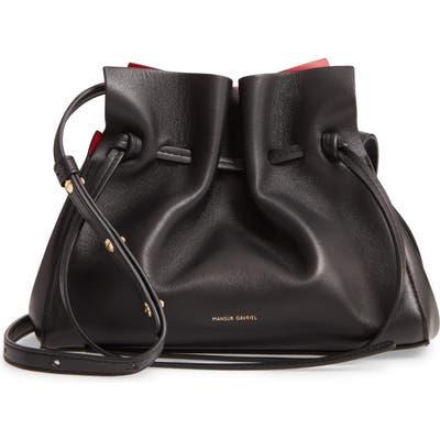 Mansur Gavriel Mini Lambskin Leather Drawstring Bag -