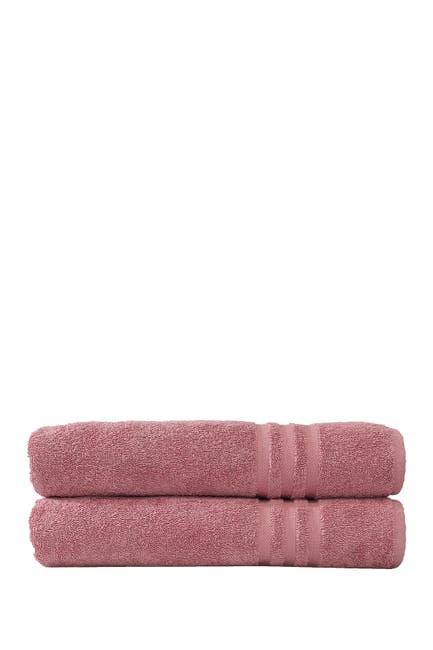 Image of LINUM HOME Denzi Bath Towels - Set of 2 - Tea Rose