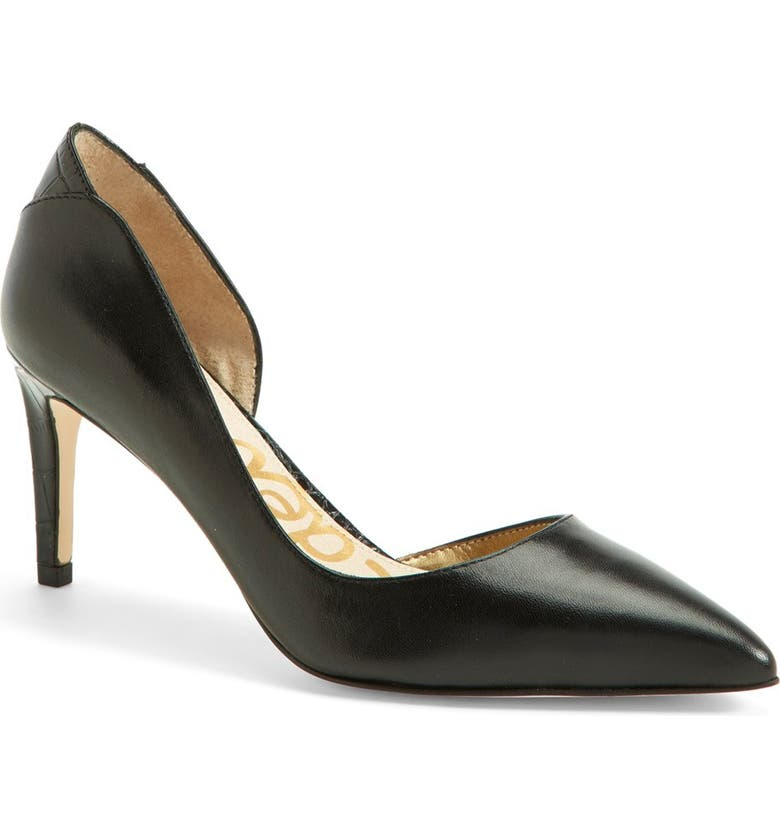 SAM EDELMAN 'Onyx' Half d'Orsay Pointy Toe Pump, Main, color, 001