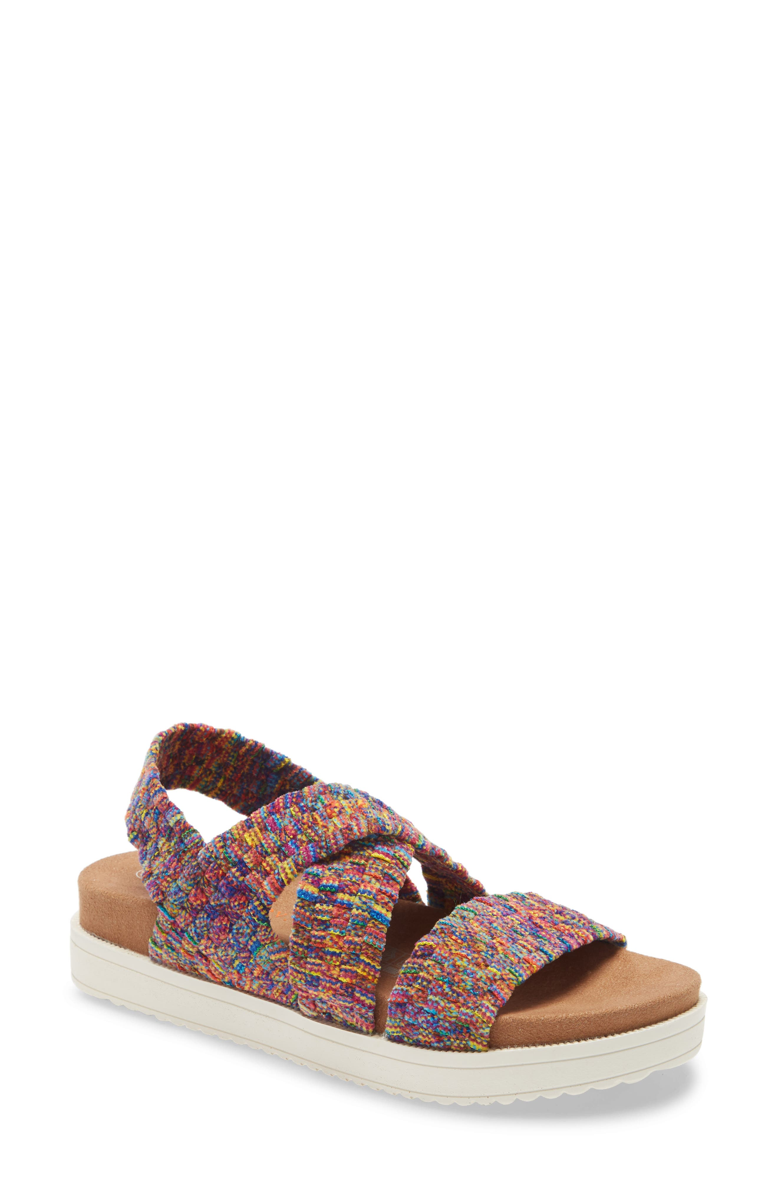 Soft chenille yarn highlights the signature woven construction of this lightweight and supremely comfortable sandal. Style Name: Bernie Mev. Woven Strap Sandal (Women). Style Number: 5985171. Available in stores.