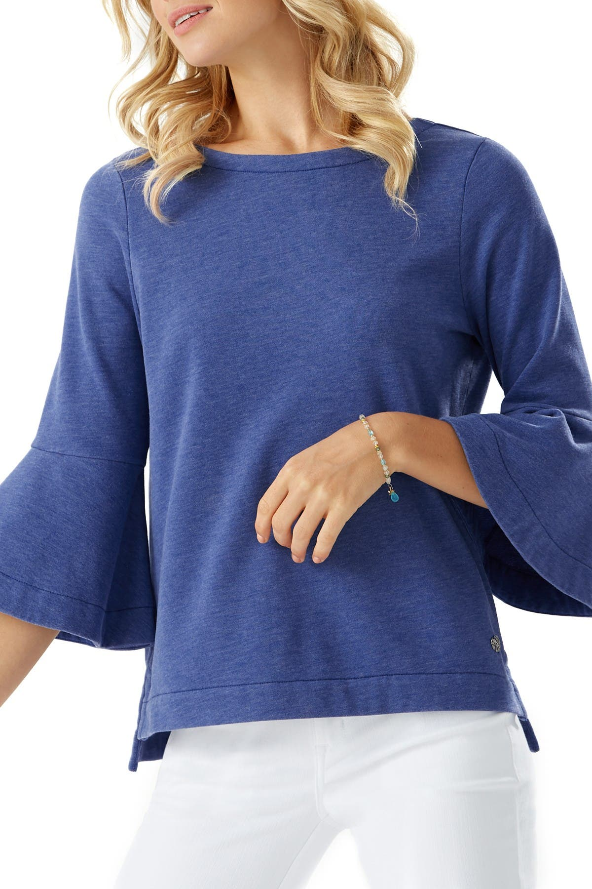 Image of Tommy Bahama Sea Glass Bell Sleeve Knit Top