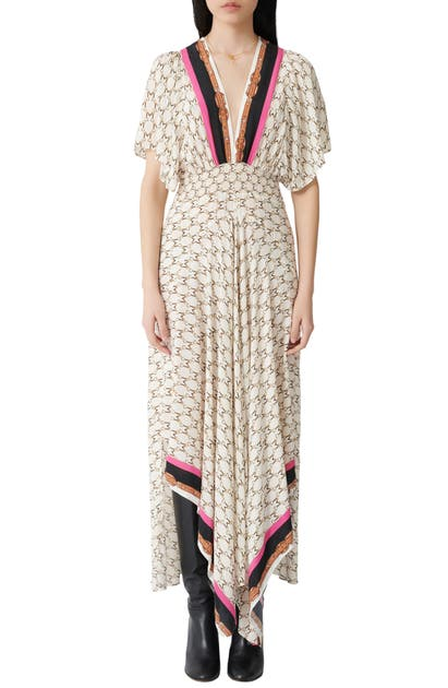 Maje Dresses RACHELINE PRINT MAXI DRESS