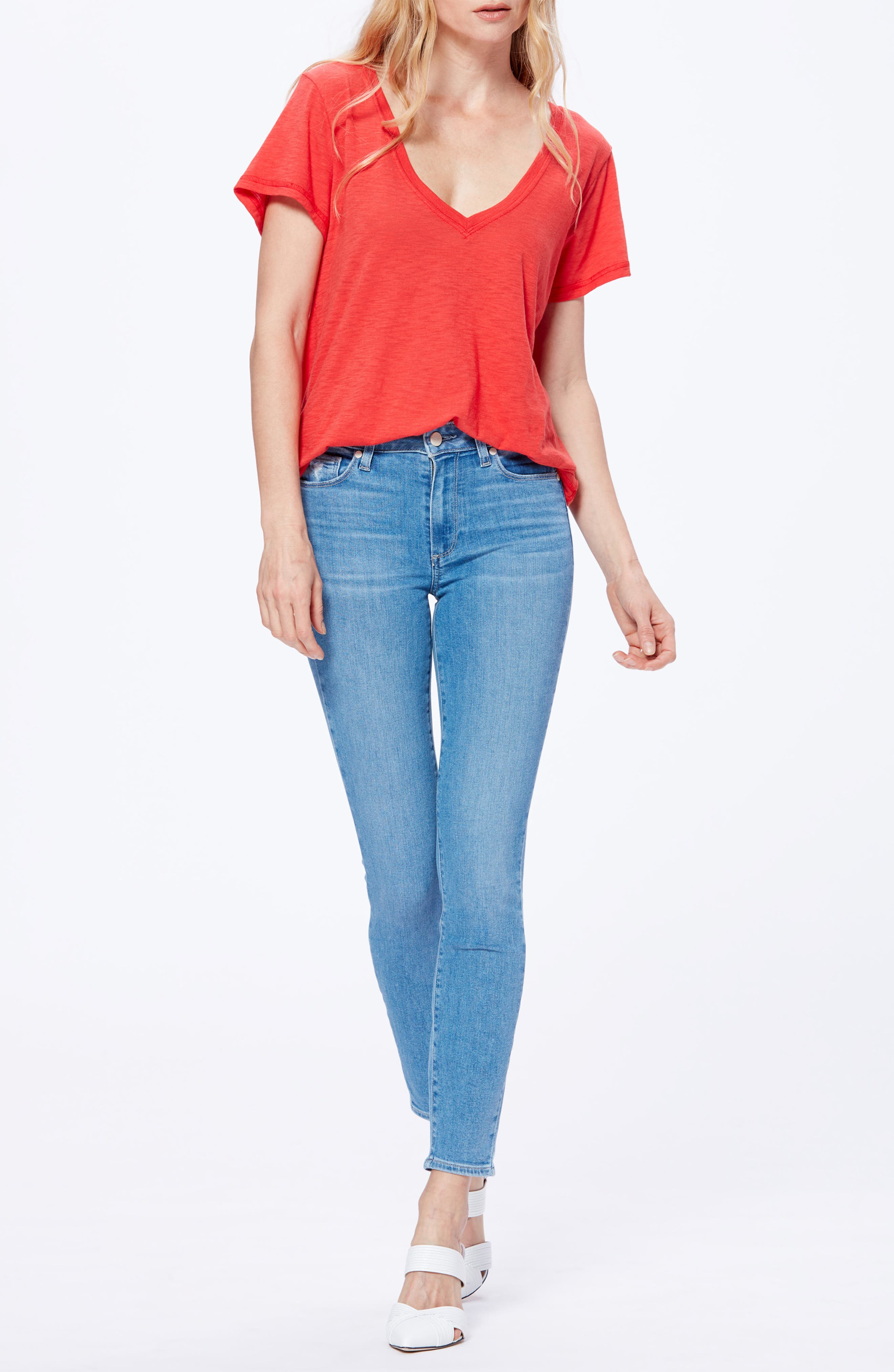 ,                             Transcend Vintage - Hoxton High Waist Ankle Skinny Jeans,                             Alternate thumbnail 8, color,                             400