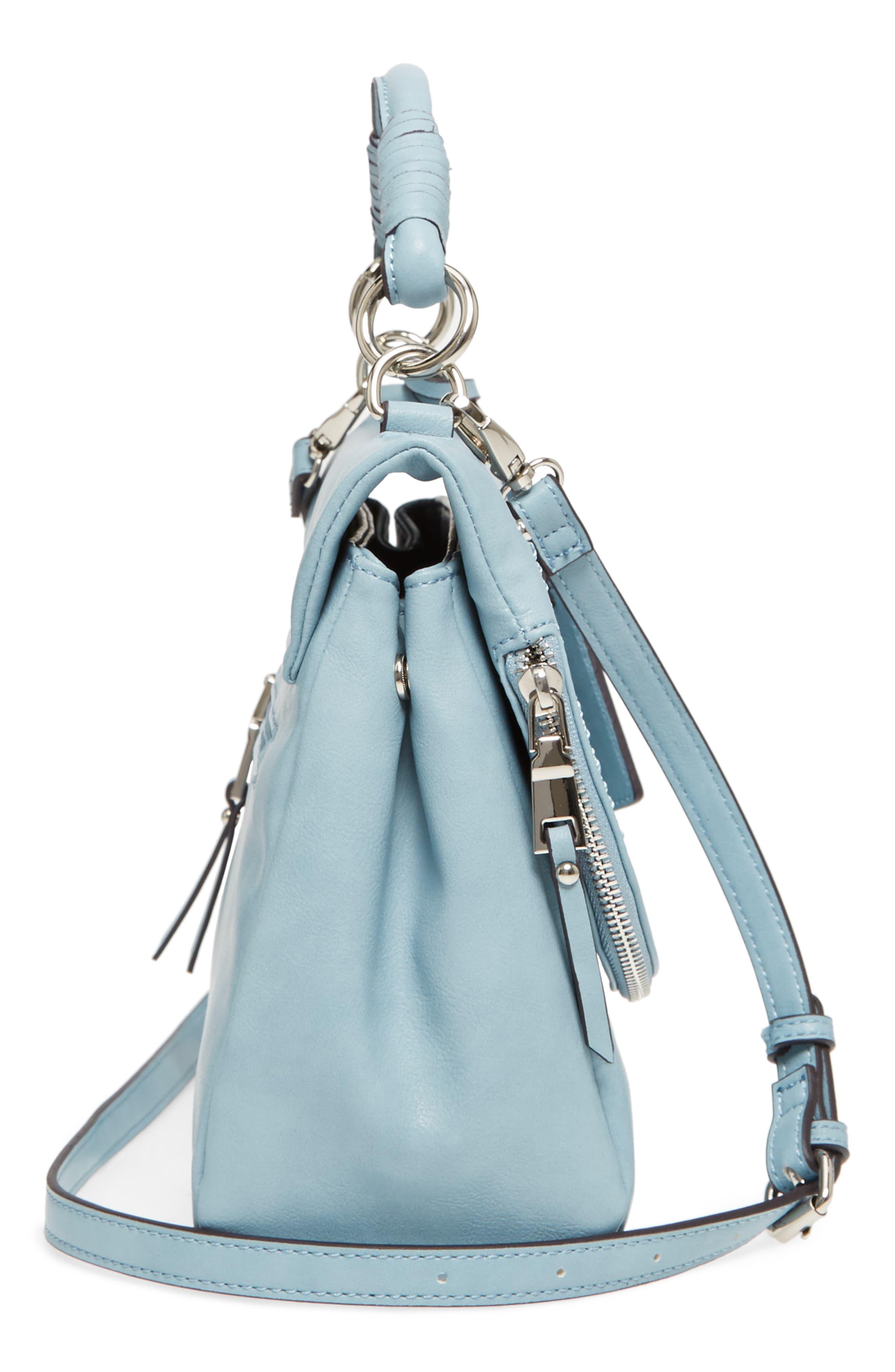 ,                             Top Handle Faux Leather Crossbody Bag,                             Alternate thumbnail 17, color,                             409