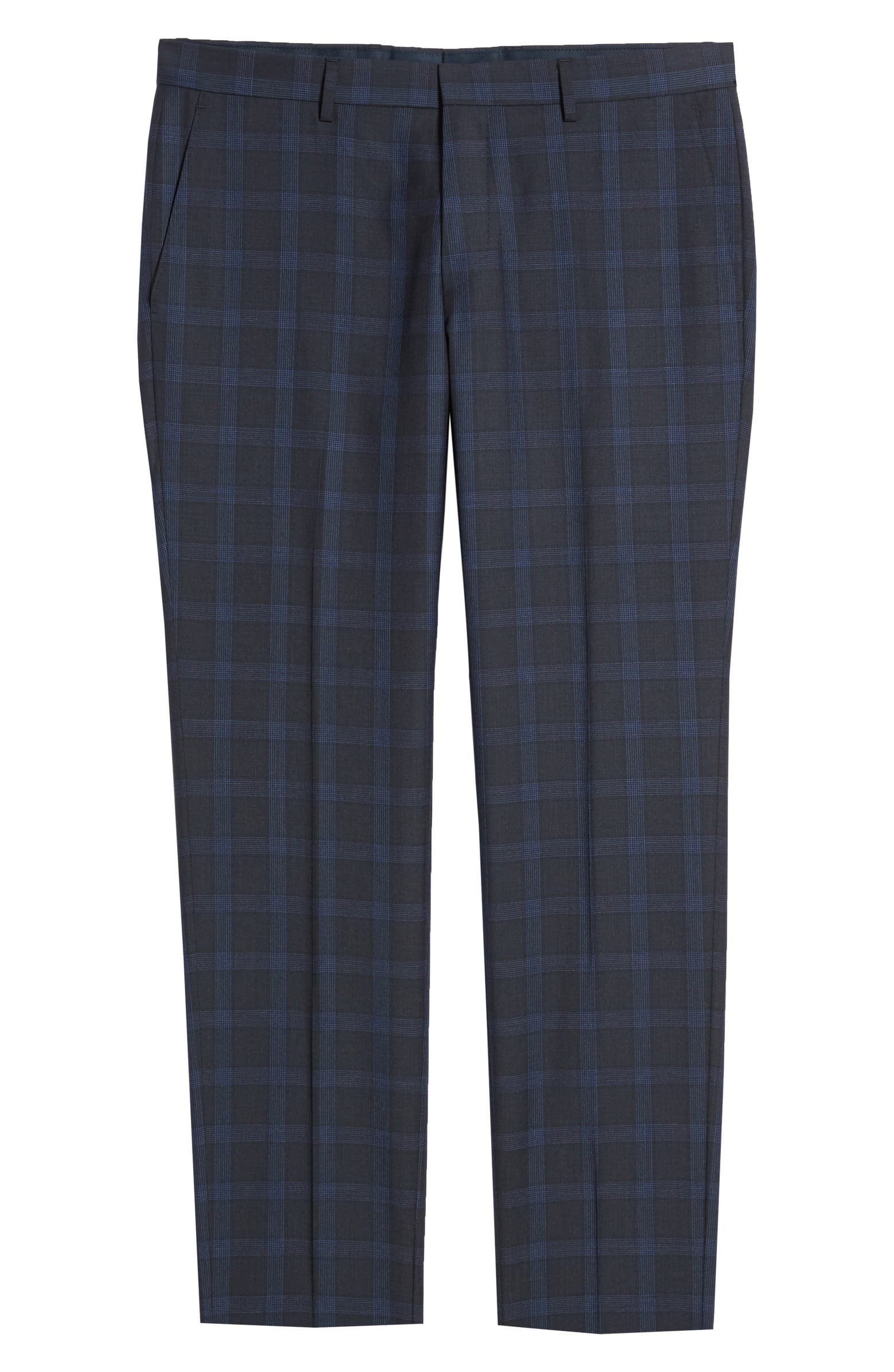 Huge Flat Front Plaid Wool Dress Pants BOSS