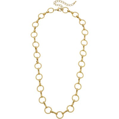 Canvas Jewelry Brie Chain Link Necklace