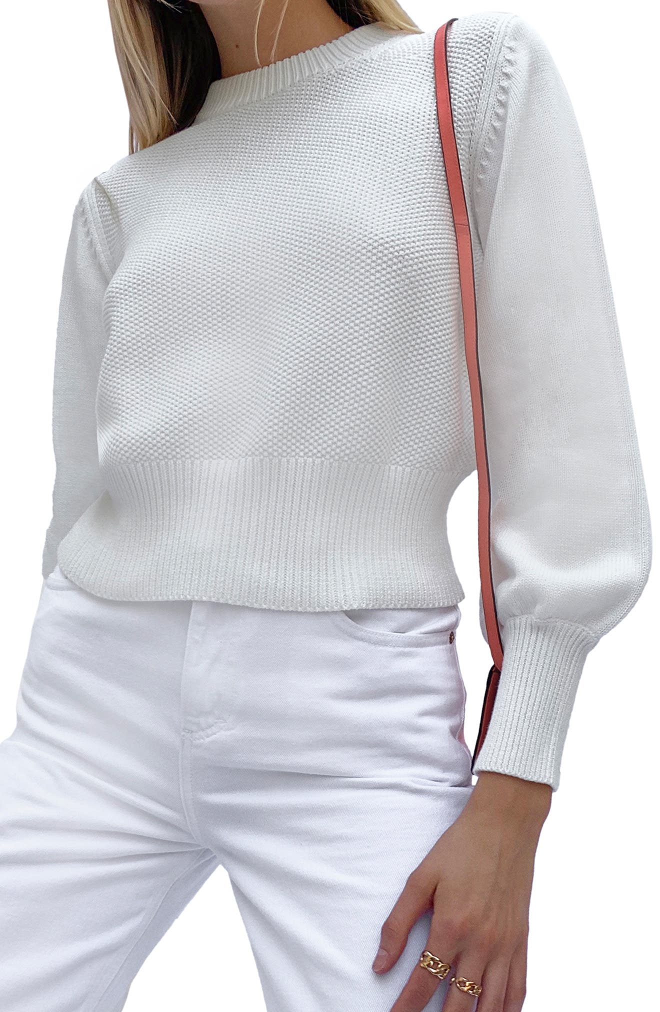 Jamie Textured Cotton Sweater