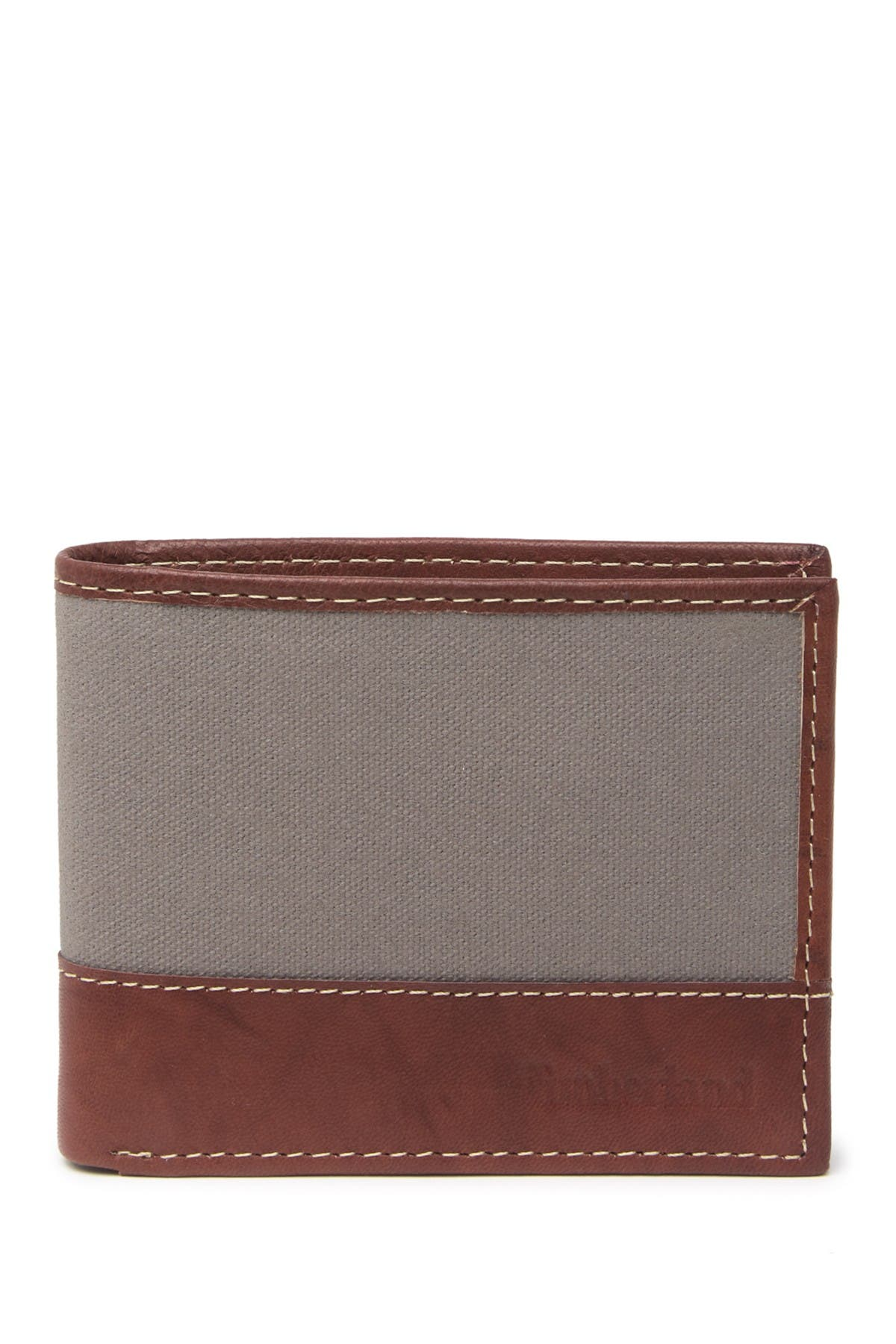Image of Timberland Canvas & Leather Bifold Wallet