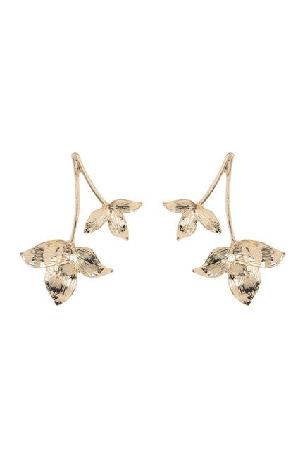 Image of Panacea 14K Gold Plated Double Leaf Earrings