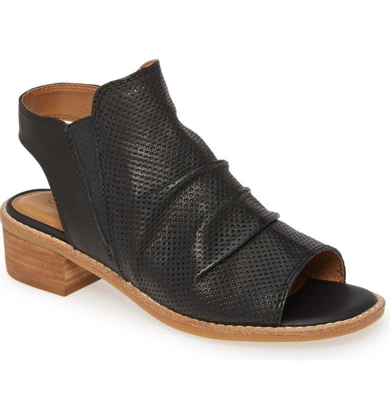 COMFORTIVA Belen Slingback Sandal, Main, color, BLACK LEATHER