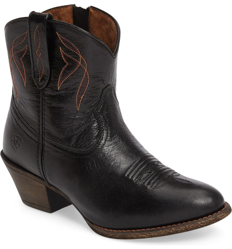 ARIAT Darlin Short Western Boot, Main, color, OLD BLACK LEATHER