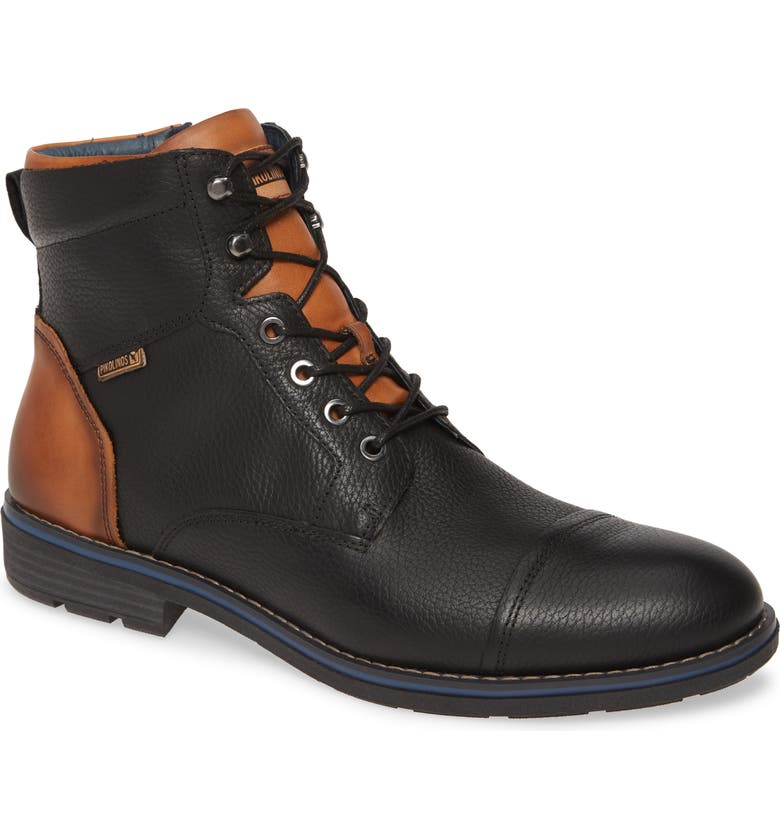 PIKOLINOS York Cap Toe Boot, Main, color, BLACK LEATHER