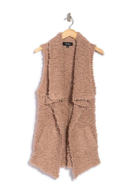 Image of Coffee Shop Teddy Drape Vest