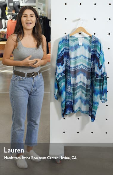 Tie Dye Open Front Cover-Up, sales video thumbnail
