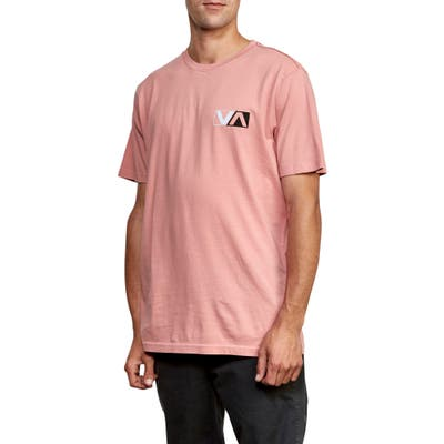 Rvca Lateral Graphic T-Shirt, Pink