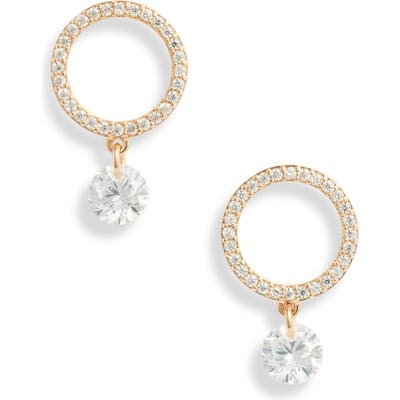 Nordstrom Open Circle Drop Earrings