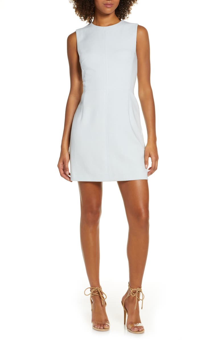 FRENCH CONNECTION Brodiaea Whisper Ruth Sheath Dress, Main, color, COOL DREAM BLUE