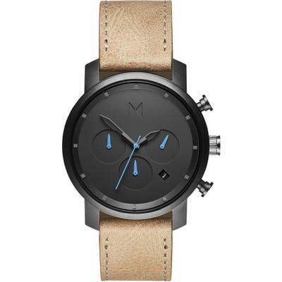 Mvmt Chronograph Leather Strap Watch, 40Mm