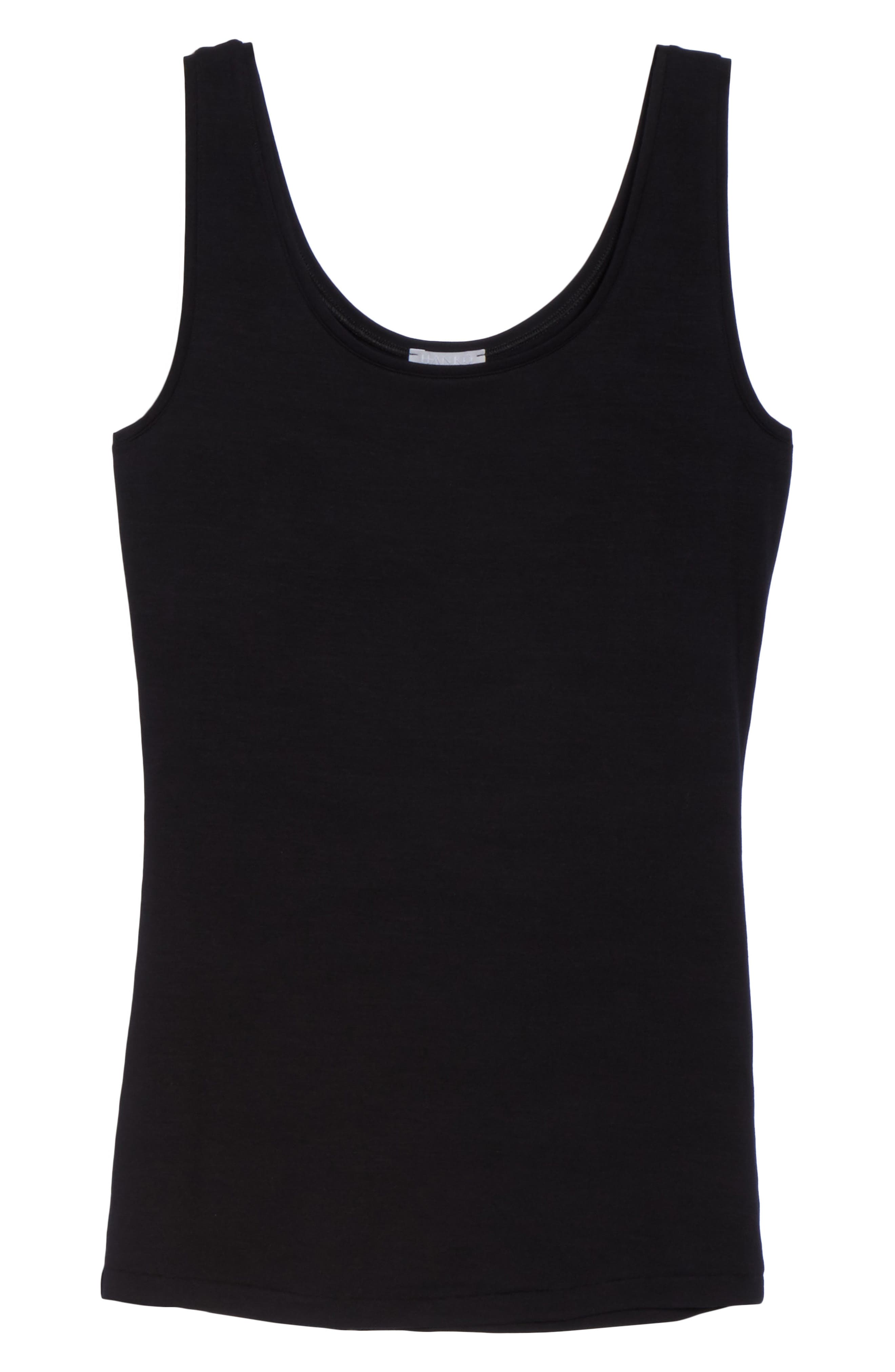 ,                             'Soft Touch' Layering Tank,                             Alternate thumbnail 6, color,                             BLACK