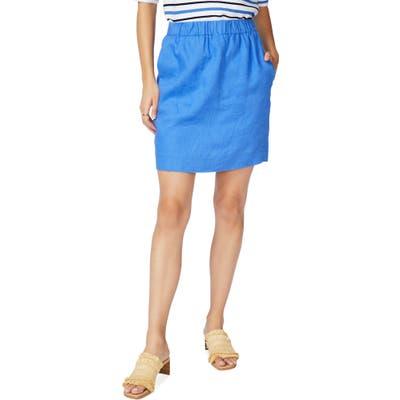 Court & Rowe Linen Pencil Skirt, Blue