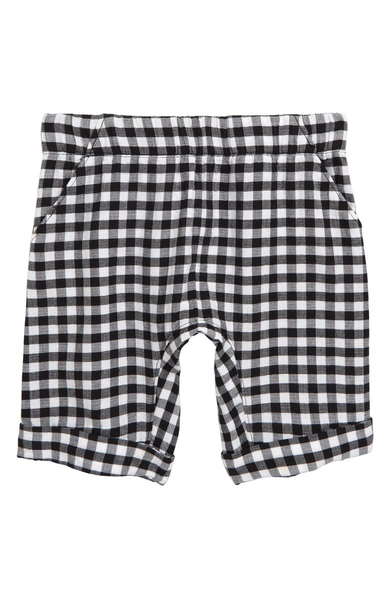 STEM Check Shorts, Main, color, BLACK- WHITE GINGHAM
