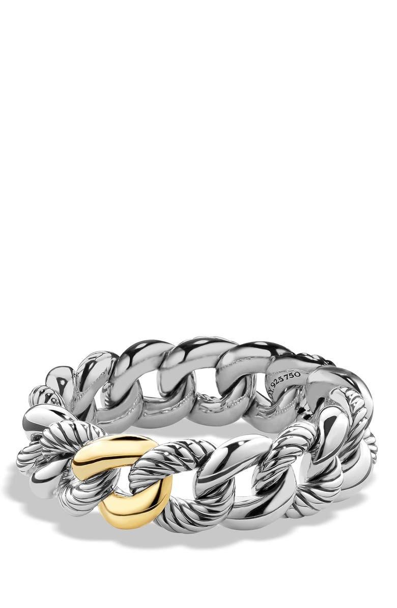 DAVID YURMAN 'Belmont' Curb Link Bracelet with 18K Gold, Main, color, TWO TONE