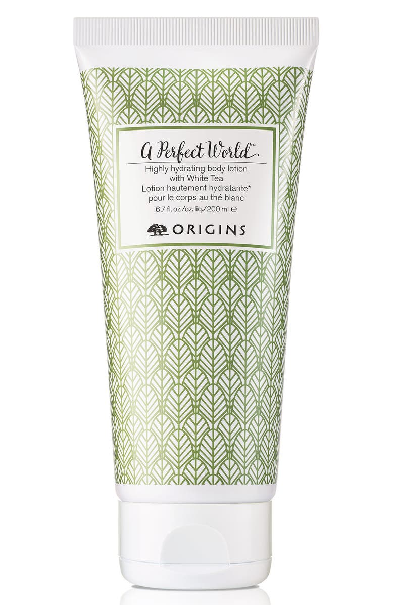 ORIGINS A Perfect World<sup>™</sup> Highly Hydrating Body Lotion with White Tea, Main, color, NO COLOR