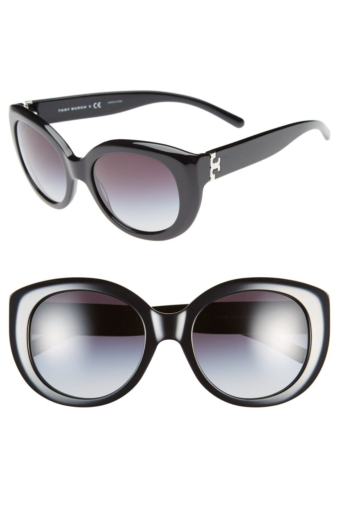 ,                             54mm Cat Eye Sunglasses,                             Main thumbnail 1, color,                             001