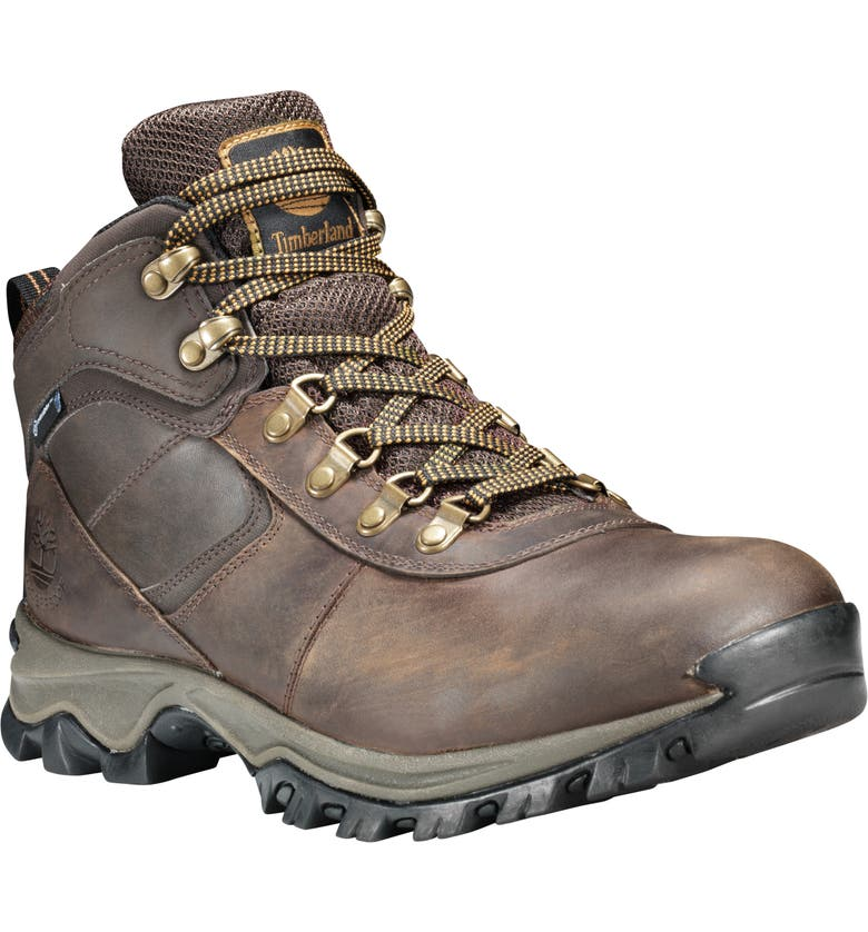 TIMBERLAND Mt. Maddsen Waterproof Hiking Boot, Main, color, DK BROWN FULL GRAIN