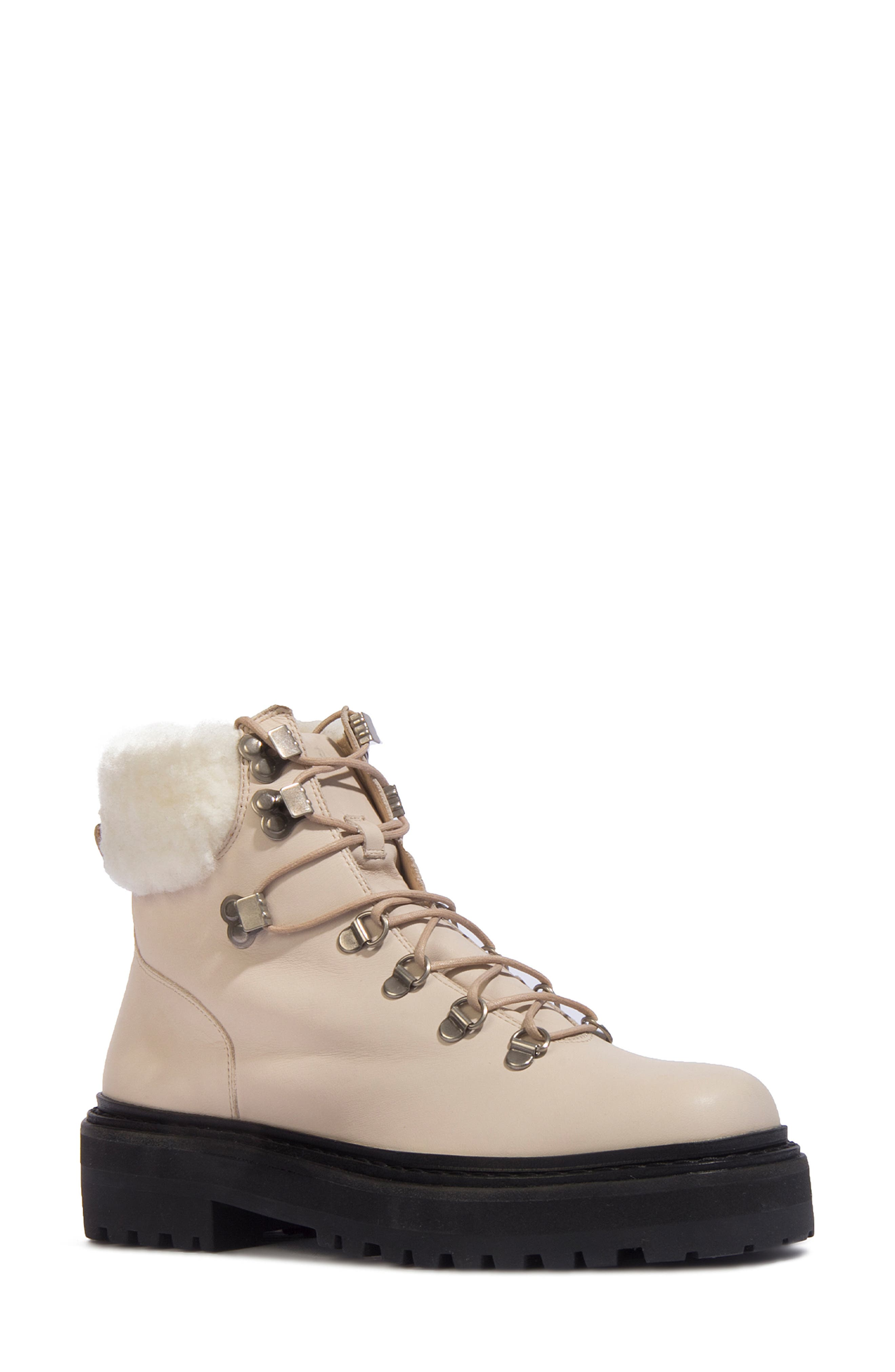 Genuine Shearling Combat Boot