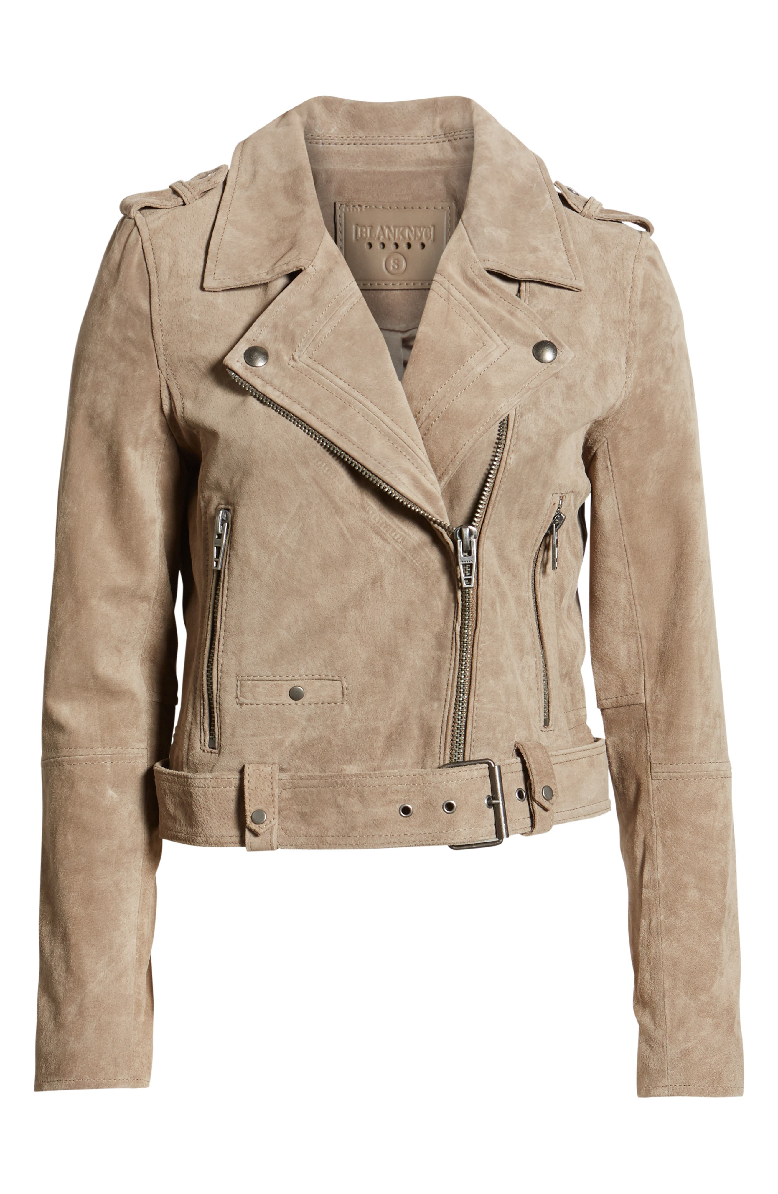 ,                             Morning Suede Moto Jacket,                             Alternate thumbnail 7, color,                             FRENCH TAUPE