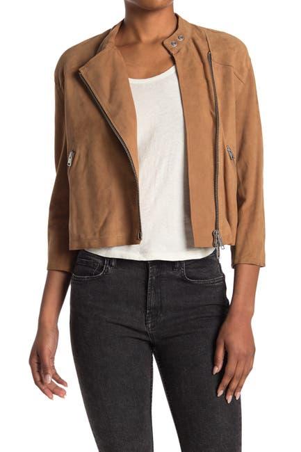 Image of ALLSAINTS Dahlia Crop Leather Moto Jacket