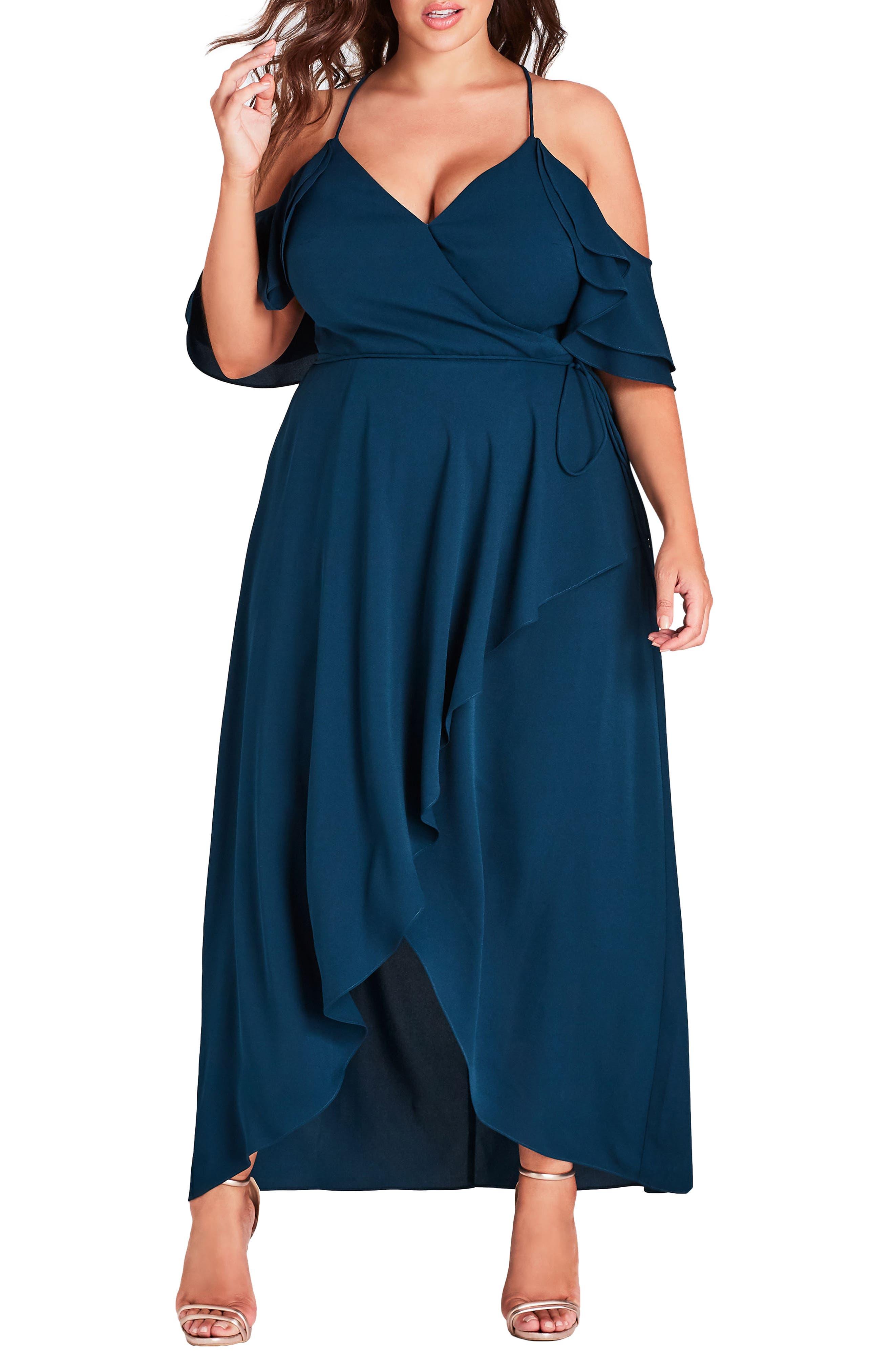 Plus Size City Chic Miss Jessica Maxi Dress, Green