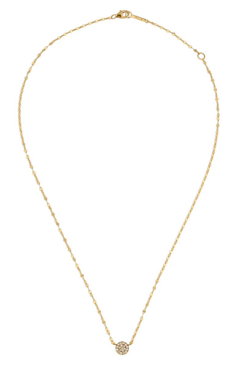 LANA JEWELRY Lana Pavé Diamond Circle Charm Necklace, Main, color, 710