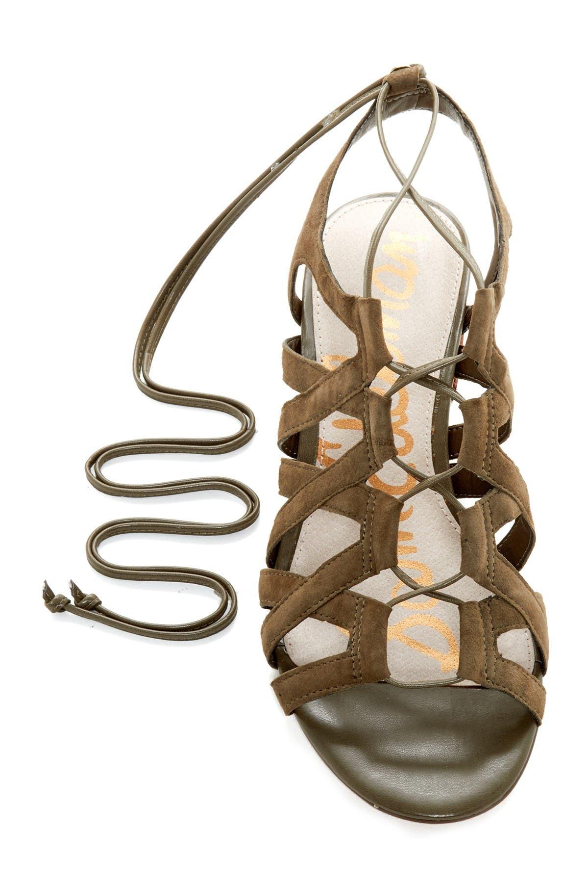 Image of Sam Edelman Ardella Lace-Up Suede Sandal