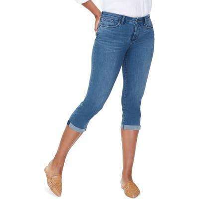 Petite Nydj Chloe Capri Jeans, Blue