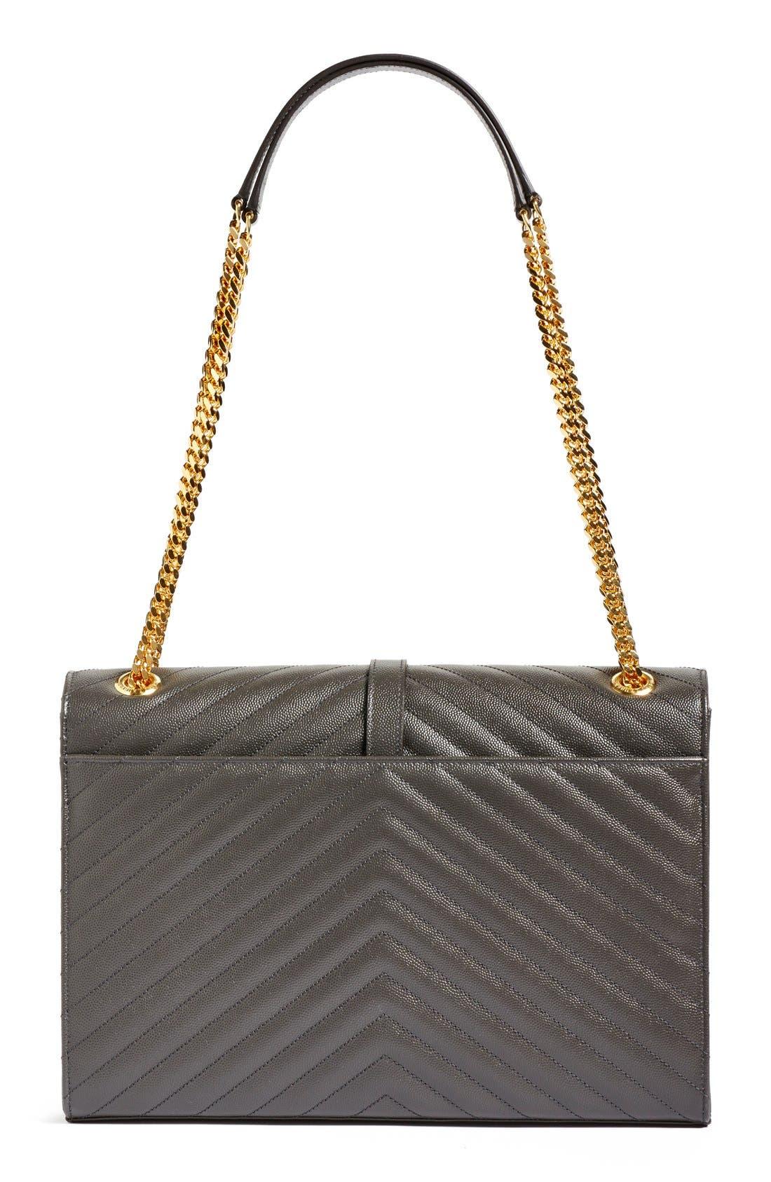 ,                             'Large Monogram' Grained Leather Shoulder Bag,                             Alternate thumbnail 21, color,                             021